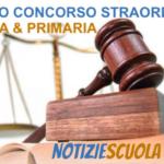 ADESIONE RICORSI CONCORSO STRAORDINARIO INFANZIA E PRIMARIA. PROROGA AL 7 GENNAIO.